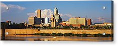 Buildings At The Waterfront, White Acrylic Print by Panoramic Images