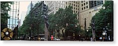Buildings In A City, Trade And Tryon Acrylic Print by Panoramic Images