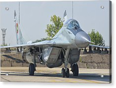 Bulgarian Air Force Mig-29 Acrylic Print by Giovanni Colla