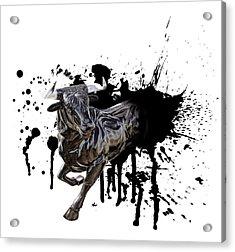 Bull Breakout Acrylic Print by Daniel Hagerman