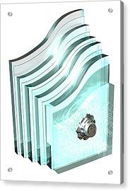 Bulletproof Glass Acrylic Print by Mikkel Juul Jensen