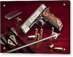 Bullets And Broadheads Acrylic Print by Tom Mc Nemar