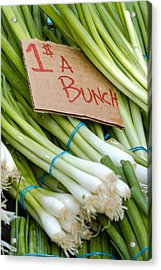 Bunches Of Onions Acrylic Print by Teri Virbickis