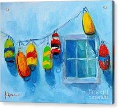Painted Buoys And Boat Floats  Acrylic Print by Patricia Awapara