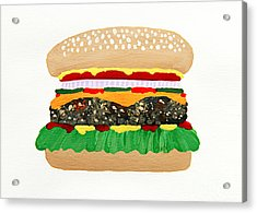 Burger Me Acrylic Print by Andee Design