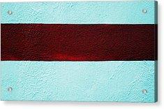 Burgundy Stripe Acrylic Print by Marcia Lee Jones