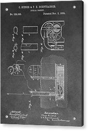 Burial Casket Acrylic Print by Dan Sproul