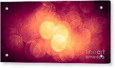 Burning Bokeh Acrylic Print by Jan Bickerton