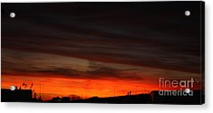 Burning Night Time Sky Acrylic Print by John Telfer