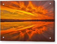 Burning Sky Acrylic Print by Donnie Smith