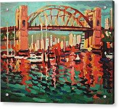 Burrard St. Bridge Acrylic Print by Brian Simons