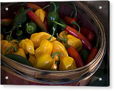Bushel Of Peppers Acrylic Print by Julie Palencia