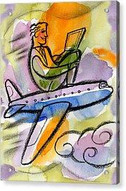 Business Trip Acrylic Print by Leon Zernitsky