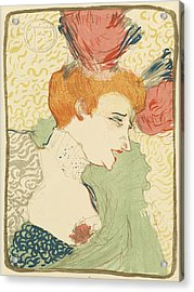Bust Of Mlle. Marcelle Lender Acrylic Print by Toulouse-Lautrec