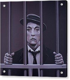Buster Keaton Painting Acrylic Print by Paul Meijering