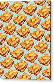 Buttered Toast Pattern Acrylic Print by Kelly Gilleran