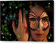 Butterfly Girl Acrylic Print by Nathan Wright