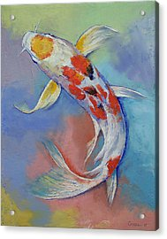 Butterfly Koi Fish Acrylic Print by Michael Creese