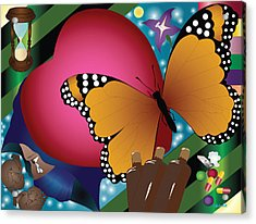 Butterfly Monk Acrylic Print by Charles Smith