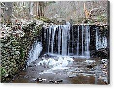 Buttermilk Falls 2 Acrylic Print by Anthony Thomas
