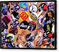 Button Crazy Acrylic Print by Kip Krause
