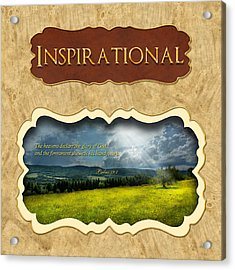 Button - Inspirational Acrylic Print by Mike Savad