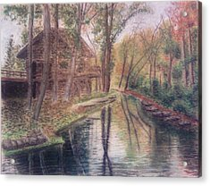 Butts Mill Farm Acrylic Print by Andrew Pierce