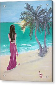 By Myself Acrylic Print by Inge Lewis