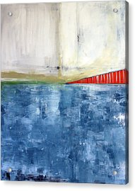 By The Bay- Abstract Art Acrylic Print by Linda Woods
