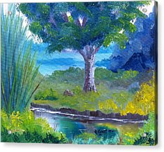 By The Creek Acrylic Print by Roy Gould