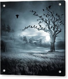 By The Moonlight Acrylic Print by Lourry Legarde
