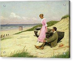 By The Sea Acrylic Print by Povl Steffensen