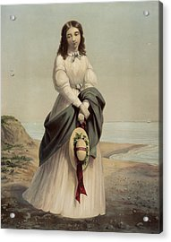 By The Sea Shore Circa 1868 Acrylic Print by Aged Pixel