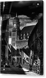 By The Station Acrylic Print by Tim Wilson