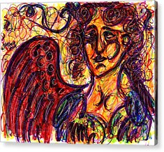 Byzantine Angel Acrylic Print by Rachel Scott