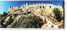 Byzantine Castle Of Kalekoy, Antalya Acrylic Print by Panoramic Images