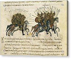 Byzantine Empire. Campaigns Acrylic Print by Everett