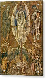Byzantine Icon Depicting The Transfiguration Acrylic Print by Byzantine School