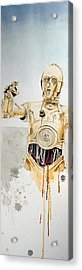 C3po Acrylic Print by David Kraig