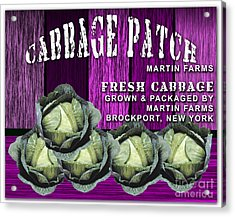 Cabbage Patch Farm Acrylic Print by Marvin Blaine