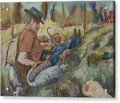 Caboodle Ranch Cats Acrylic Print by Barbara McGeachen
