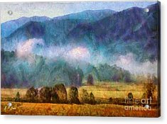 Cades Cove Tennessee  Acrylic Print by Elizabeth Coats
