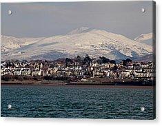 Caernarfon From The Menai Strait Acrylic Print by Ollie Taylor