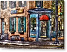 Cafe - Cafe America Acrylic Print by Mike Savad