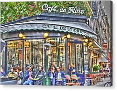Cafe Flore In Summer Acrylic Print by Matthew Bamberg