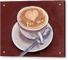 Caffe Latte Acrylic Print by Anastasiya Malakhova