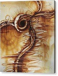 Caffeine Acrylic Print by Tracy Male