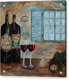 Cain Vineyards And Kennedy Meadows Acrylic Print by Tamyra Crossley