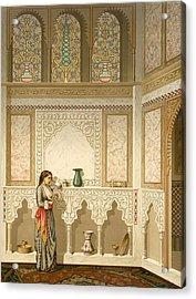Cairo Interior  Acrylic Print by Emile Prisse d'Avennes