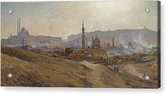 Cairo Mist Dust And Fumes Evening Acrylic Print by Etienne Dinet